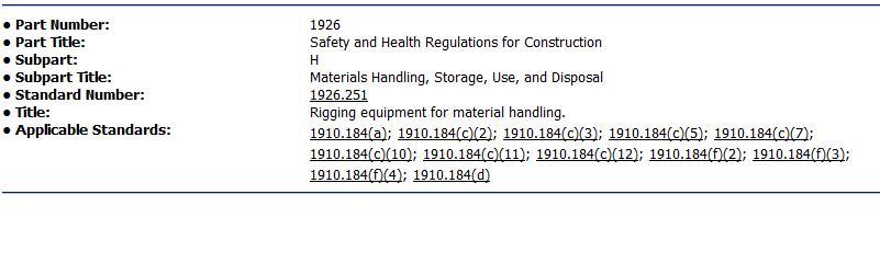 OSHA Standard 1926.251 | The Rigging Box